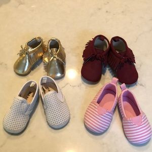 4 pairs of baby shoes 3 from old navy
